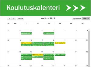 koulutuskalenteriin