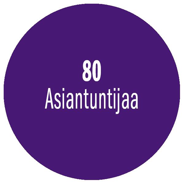 80 asiantuntijaa